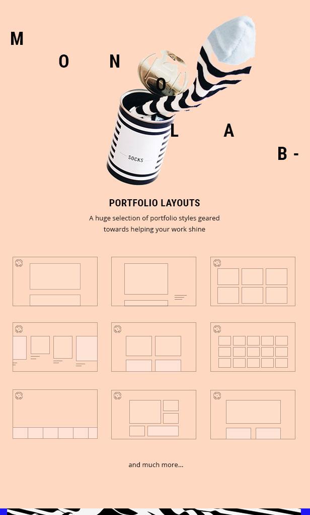 Monolab - Tema de portafolio creativo - 3